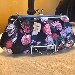 Handbags - Satin floral evening/day clutch bag. NWOT